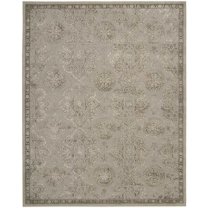 "7'9"" x 9'9"" Grey Rectangle Rug"