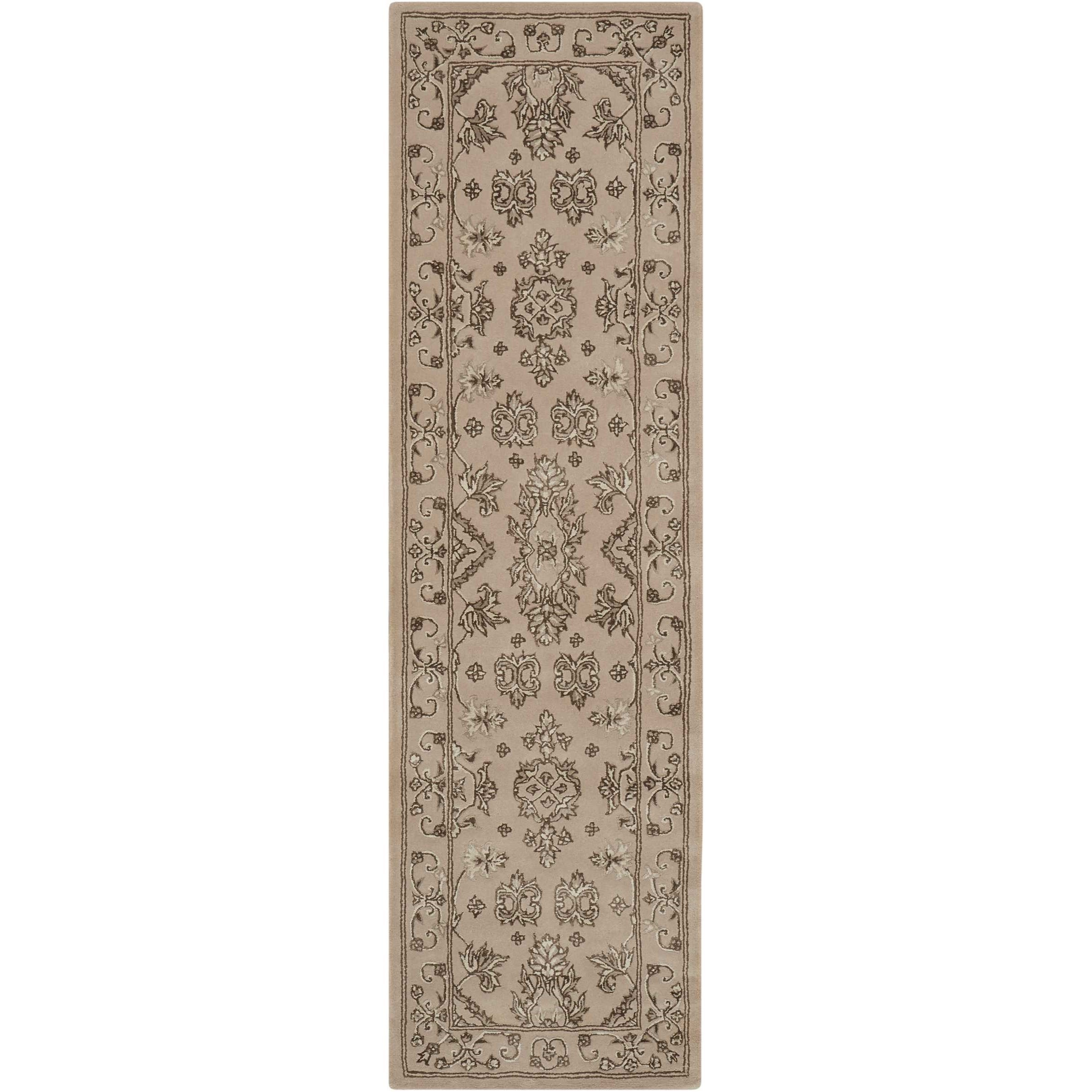 """2'3"""" x 8' Taupe Runner Rug"""