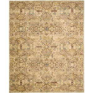 "Nourison Rhapsody 8'6"" x 11'6"" Light Gold Area Rug"