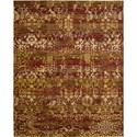 "Nourison Rhapsody 7'9"" x 9'9"" Multicolor Area Rug - Item Number: 18702"