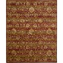 "Nourison Rhapsody 7'9"" x 9'9"" Sienna Gold Area Rug - Item Number: 18704"