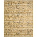 "Nourison Rhapsody 8'6"" x 11'6"" Caramel Cream Area Rug - Item Number: 18734"