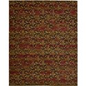 "Nourison Rhapsody 7'9"" x 9'9"" Flame Area Rug - Item Number: 18802"