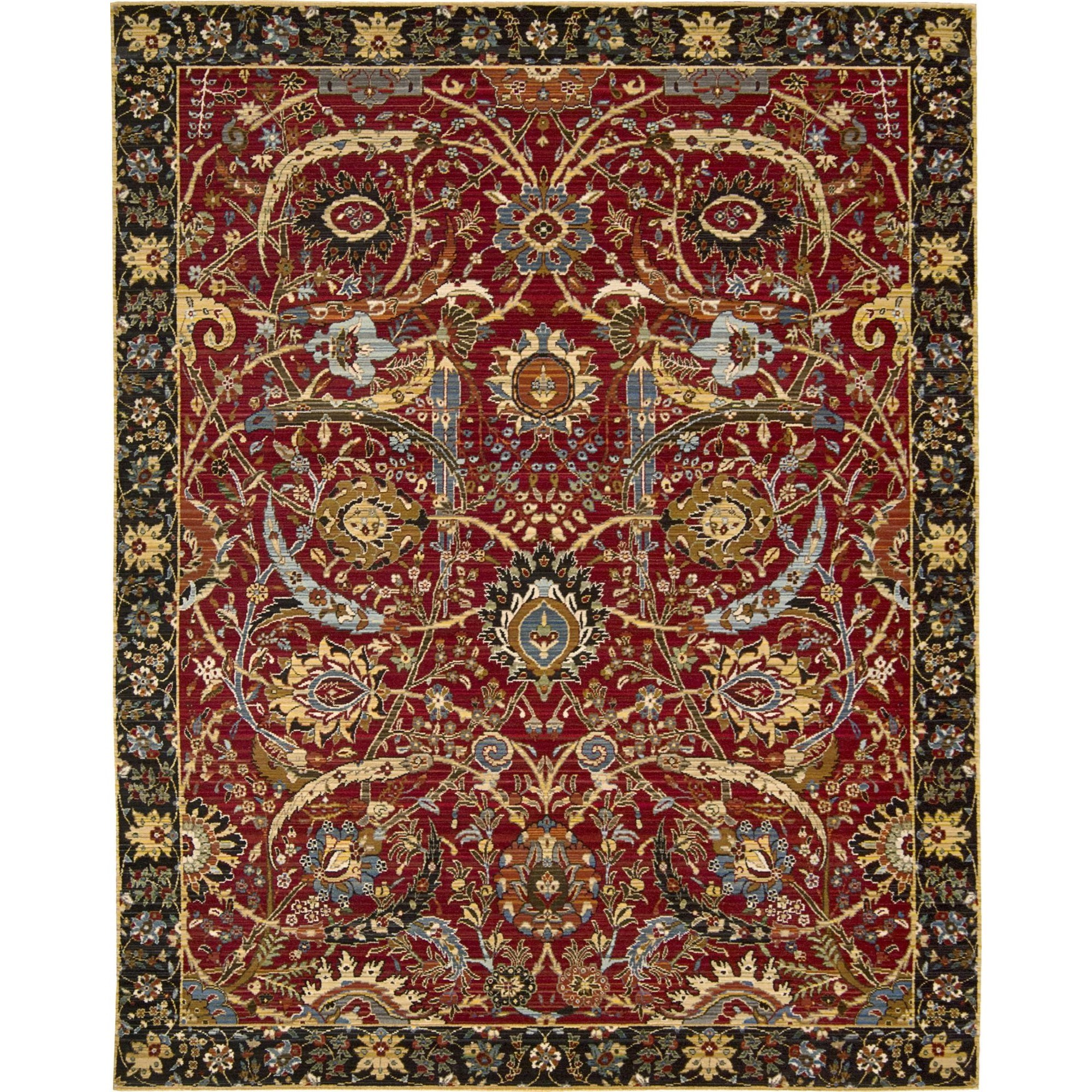 "Nourison Rhapsody 7'9"" x 9'9"" Red Area Rug - Item Number: 19190"