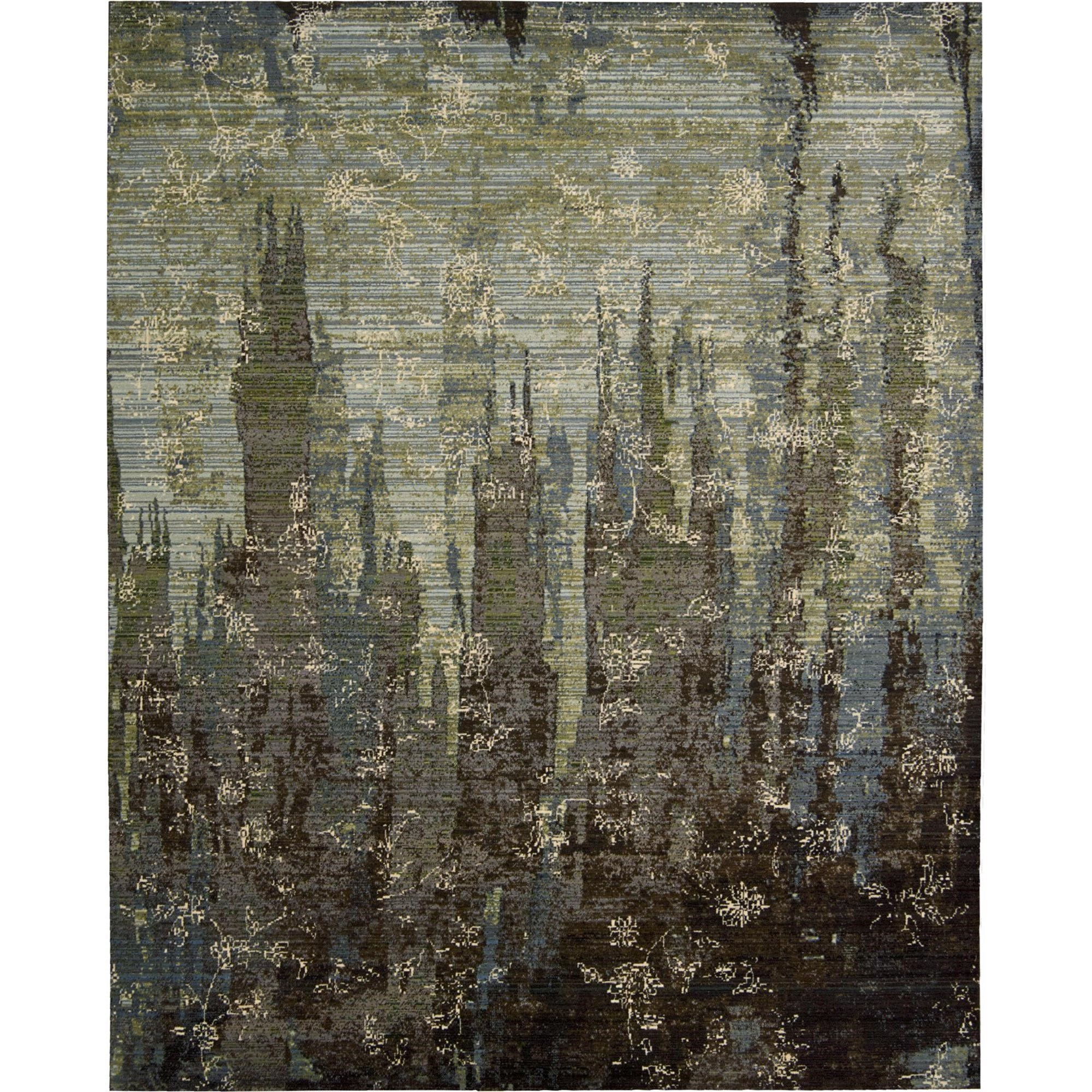 "Nourison Rhapsody 5'6"" x 8' Seaglass Area Rug - Item Number: 25028"