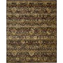 "Nourison Rhapsody 5'6"" x 8' Ebony Area Rug - Item Number: 25029"