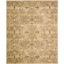 "Nourison Rhapsody 5'6"" x 8' Light Gold Area Rug - Item Number: 25031"