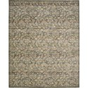 "Nourison Rhapsody 5'6"" x 8' Blue Moss Area Rug - Item Number: 25102"