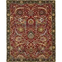 "Nourison Rhapsody 5'6"" x 8' Red Area Rug - Item Number: 25105"