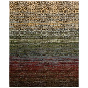 "Nourison Rhapsody 5'6"" x 8' Multicolor Rectangle Rug"