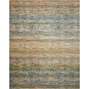 "Nourison Rhapsody 8'6"" x 11'6"" Beige Blue Rectangle Rug"