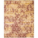 "Nourison Rhapsody 9'9"" x 13' Gold/Garnet Rectangle Rug - Item Number: RH005 GDGAR 99X13"