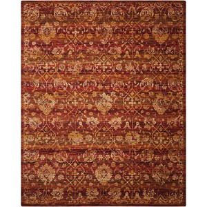 "Nourison Rhapsody 7'9"" x 9'9"" Sienna/Gold Rectangle Rug"
