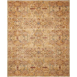 "Nourison Rhapsody 9'9"" x 13' Light Gold Rectangle Rug"