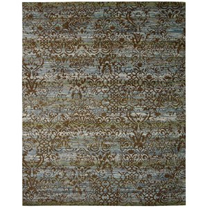 "Nourison Rhapsody 9'9"" x 13' Blue/Moss Rectangle Rug"