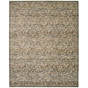 "Nourison Rhapsody 8'6"" x 11'6"" Blue/Moss Rectangle Rug - Item Number: RH012 BLMOS 86X116"
