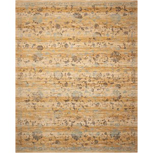 "Nourison Rhapsody 8'6"" x 11'6"" Caramel/Cream Rectangle Rug"