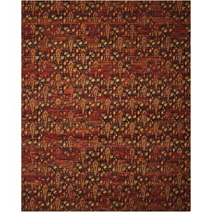 "Nourison Rhapsody 5'6"" x 8' Flame Rectangle Rug"