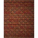 """Nourison Rhapsody 8'6"""" x 11'6"""" Flame Rectangle Rug - Item Number: RH014 FLAME 86X116"""