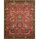 "Nourison Rhapsody 5'6"" x 8' Red Rectangle Rug - Item Number: RH015 RED 56X8"