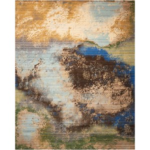 "Nourison Rhapsody 8'6"" x 11'6"" Ocean Rectangle Rug"