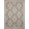 "Nourison Riviera 3'6"" x 5'6"" Graphite Rectangle Rug - Item Number: RI01 GRAPH 36X56"