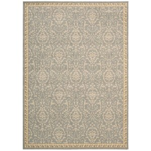 "Nourison Riviera 2' x 2'9"" Blue Rectangle Rug"
