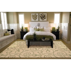 "Nourison Riviera 3'6"" x 5'6"" Light Gold Rectangle Rug"