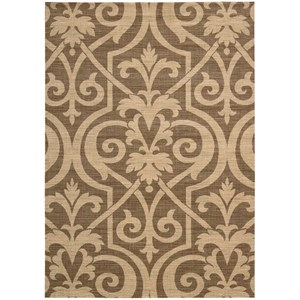 "Nourison Riviera 5'3"" x 7'5"" Mocha Rectangle Rug"