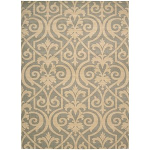 "Nourison Riviera 5'3"" x 7'5"" Slate Rectangle Rug"