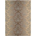 "Nourison Riviera 5'3"" x 7'5"" Mocha Beige Rectangle Rug - Item Number: RI06 MOCBG 53X75"