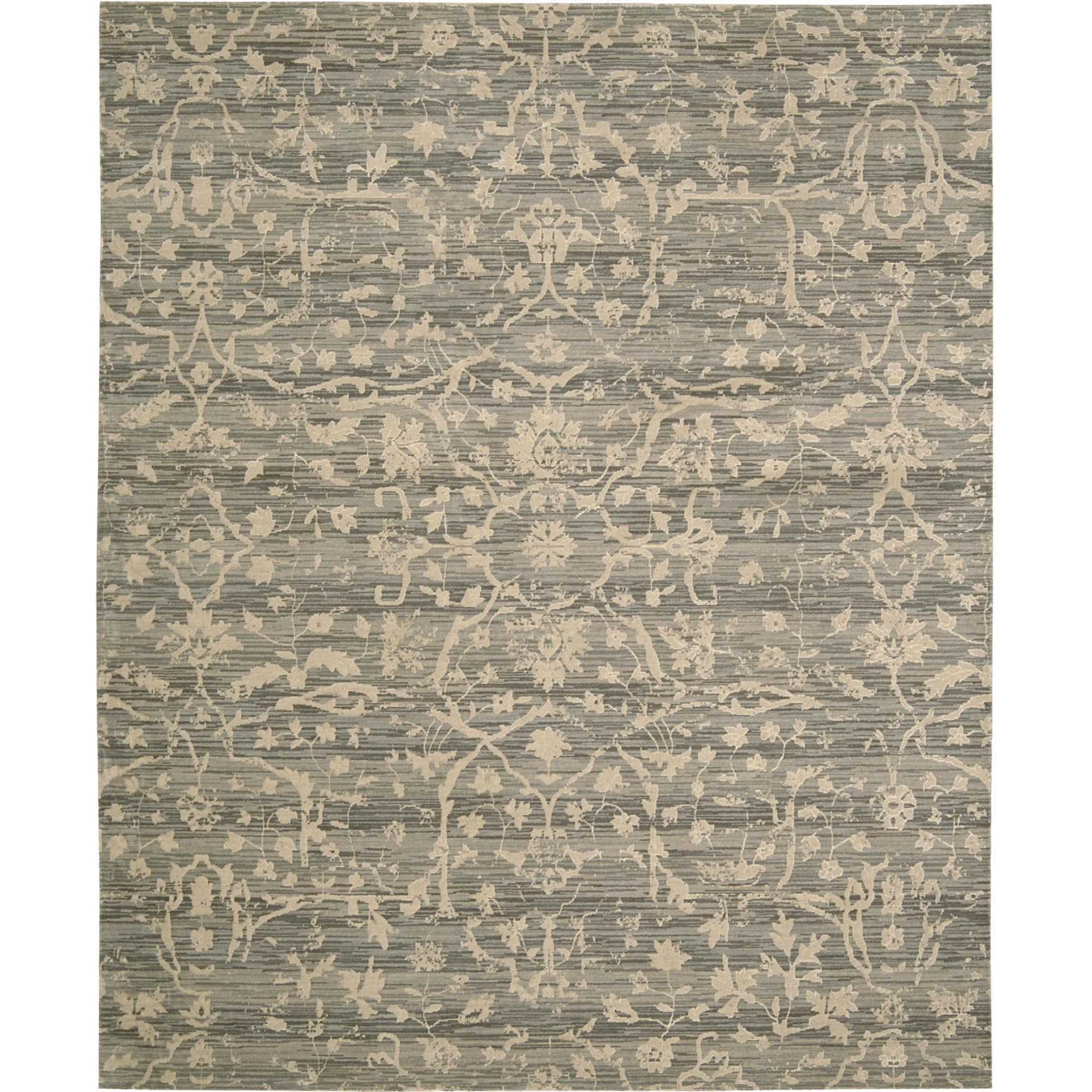 """Nourison Silk Elements 5'6"""" x 8' Taupe Area Rug - Item Number: 16487"""