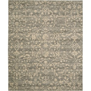 "Nourison Silk Elements 5'6"" x 8' Taupe Area Rug"