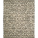 "Nourison Silk Elements 5'6"" x 8' Taupe Area Rug - Item Number: 16487"