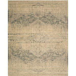 "Nourison Silk Elements 5'6"" x 8' Beige Area Rug"