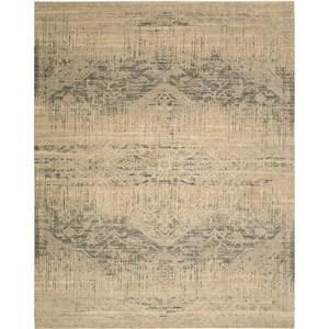 "Nourison Silk Elements 7'9"" x 9'9"" Beige Area Rug"