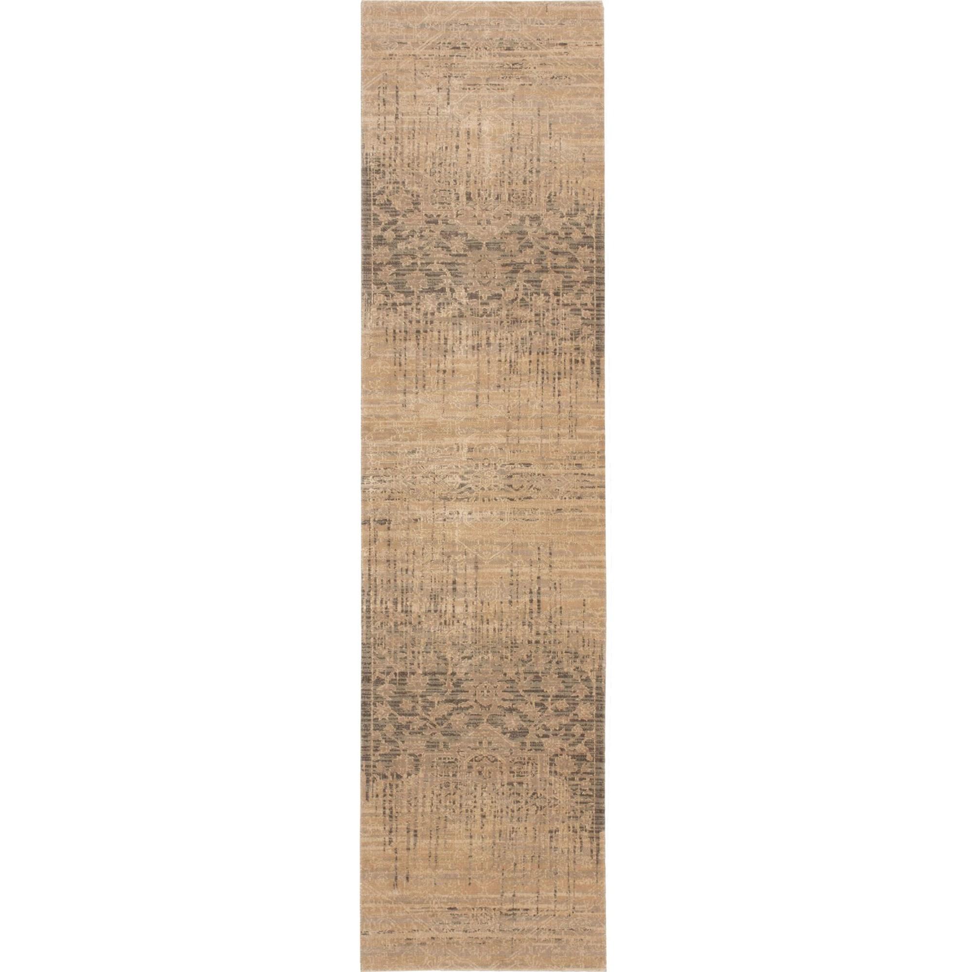 "Nourison Silk Elements 2'5"" x 10' Beige Area Rug - Item Number: 18860"