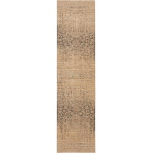 "Nourison Silk Elements 2'5"" x 10' Beige Area Rug"