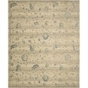 "Nourison Silk Elements 7'9"" x 9'9"" Beige Area Rug - Item Number: 18866"