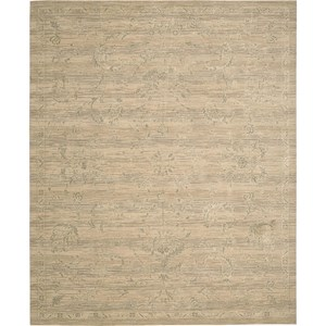 "Nourison Silk Elements 7'9"" x 9'9"" Sand Area Rug"