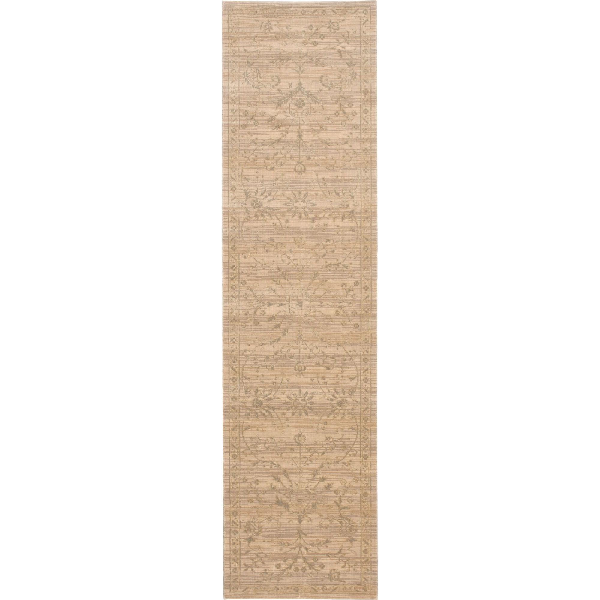 "Nourison Silk Elements 2'5"" x 10' Sand Area Rug - Item Number: 18873"