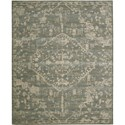 "Nourison Silk Elements 5'6"" x 8' Azure Area Rug - Item Number: 18875"