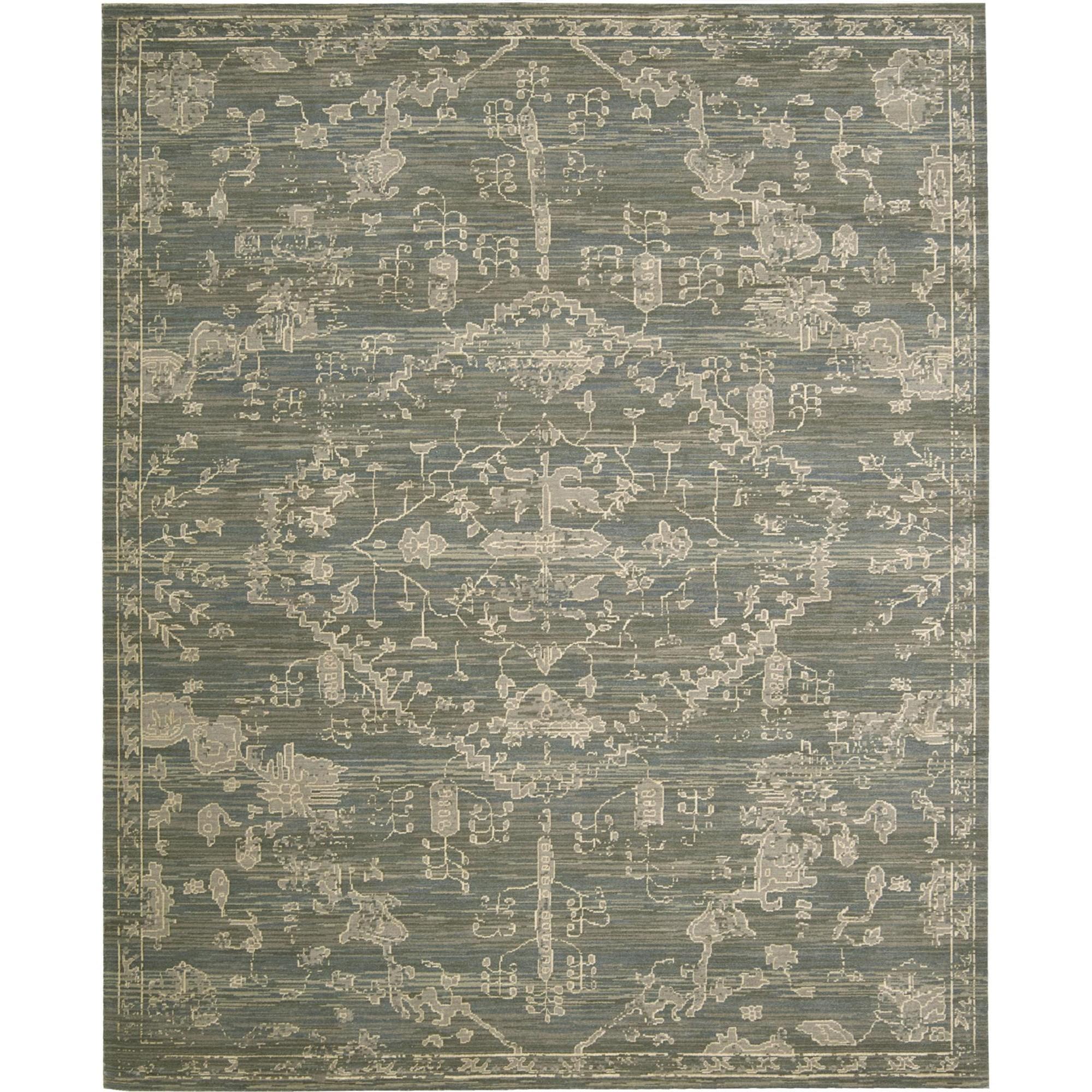 "Nourison Silk Elements 9'9"" x 13' Azure Area Rug - Item Number: 18880"