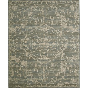 "Nourison Silk Elements 9'9"" x 13' Azure Area Rug"