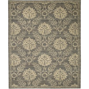 "Nourison Silk Elements 9'9"" x 13' Graphite Area Rug"