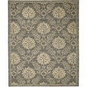 "Nourison Silk Elements 7'9"" x 9'9"" Graphite Area Rug - Item Number: 18889"