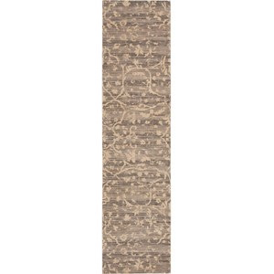 "Nourison Silk Elements 2'5"" x 10' Taupe Area Rug"