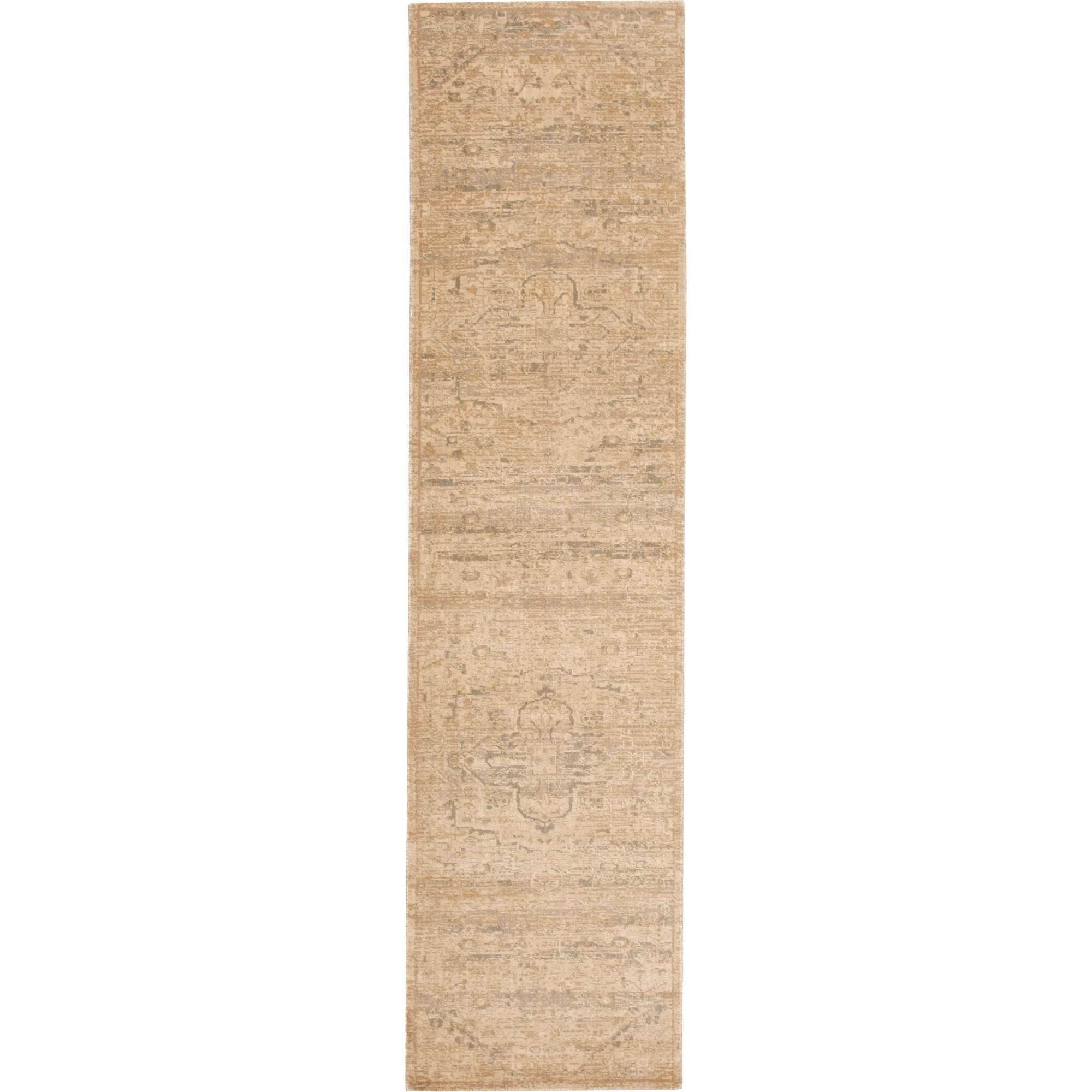 "Nourison Silk Elements 2'5"" x 10' Sand Area Rug - Item Number: 18896"
