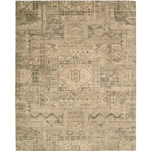 "Nourison Silk Elements 5'6"" x 8' Beige Area Rug"
