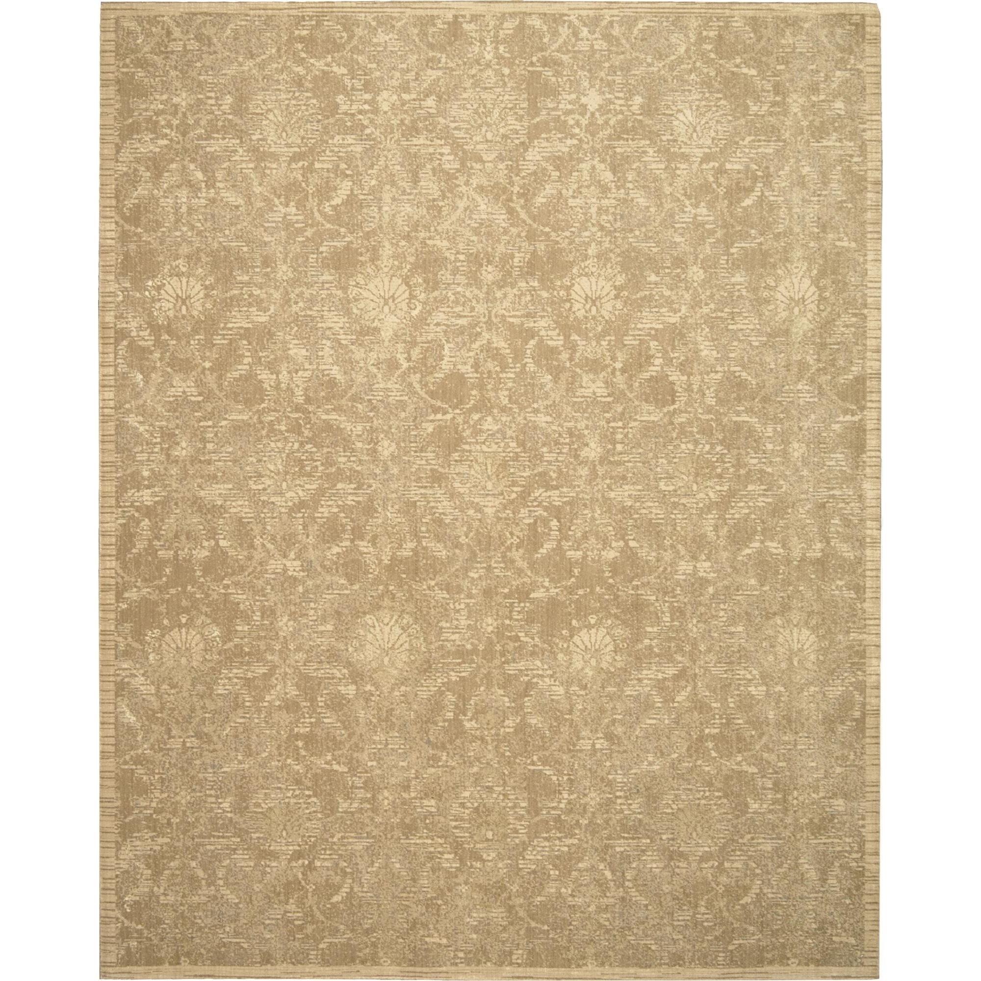 "Nourison Silk Elements 8'6"" x 11'6"" Sand Area Rug - Item Number: 18911"